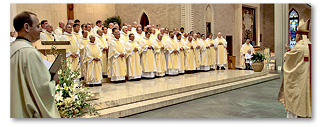 The clergy of the Diocese of Baton Rouge renews their commitments to